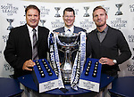 Derek Johnstone and Gary Teale with Neil Doncaster