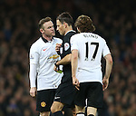 Manchester United's Wayne Rooney gets booked for arguing with referee Mike Clattenburg<br /> <br /> Barclays Premier League- West Ham United vs Manchester United  - Upton Park - England - 8th February 2015 - Picture David Klein/Sportimage