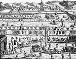 Execution of the Streltsy (also known as the Strelets Troops), Russia, 1699. Engraving by Korb, from 'Diarium itineris. Image shot 1699. Exact date unknown.