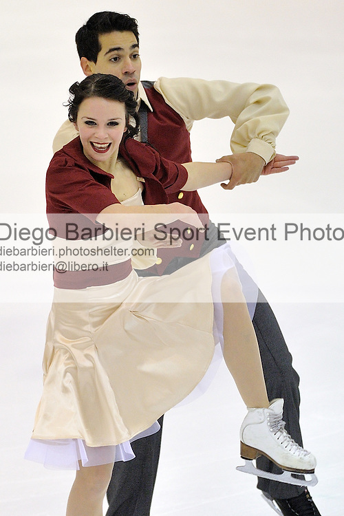 21th december 2012 Ice Figure Skating Italian Championship - Agor&agrave;, Milan<br /> <br /> Anna Cappellini - Luca Lanotte