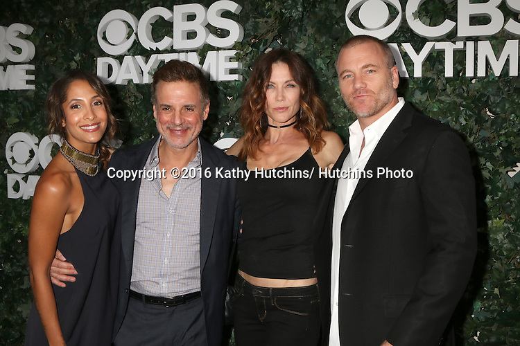 LOS ANGELES - OCT 10:  Christel Khalil, Christian LeBlanc, Stacy Haiduk, Sean Carrigan at the CBS Daytime #1 for 30 Years Exhibit Reception at the Paley Center For Media on October 10, 2016 in Beverly Hills, CA