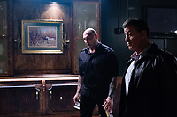 Escape Plan 2: Hades (2018) <br /> Dave Bautista &amp; Sylvester Stallone  <br /> *Filmstill - Editorial Use Only*<br /> CAP/MFS<br /> Image supplied by Capital Pictures