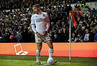 Leeds United's Kalvin Phillips takes a corner next to a rainbow corner flag<br /> <br /> Photographer Alex Dodd/CameraSport<br /> <br /> The EFL Sky Bet Championship - Leeds United v Middlesbrough - Saturday 30th November 2019 - Elland Road - Leeds<br /> <br /> World Copyright © 2019 CameraSport. All rights reserved. 43 Linden Ave. Countesthorpe. Leicester. England. LE8 5PG - Tel: +44 (0) 116 277 4147 - admin@camerasport.com - www.camerasport.com