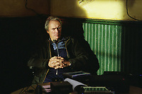 Mystic River (2003)<br /> Behind the scenes photo of Clint Eastwood<br /> *Filmstill - Editorial Use Only*<br /> CAP/KFS<br /> Image supplied by Capital Pictures