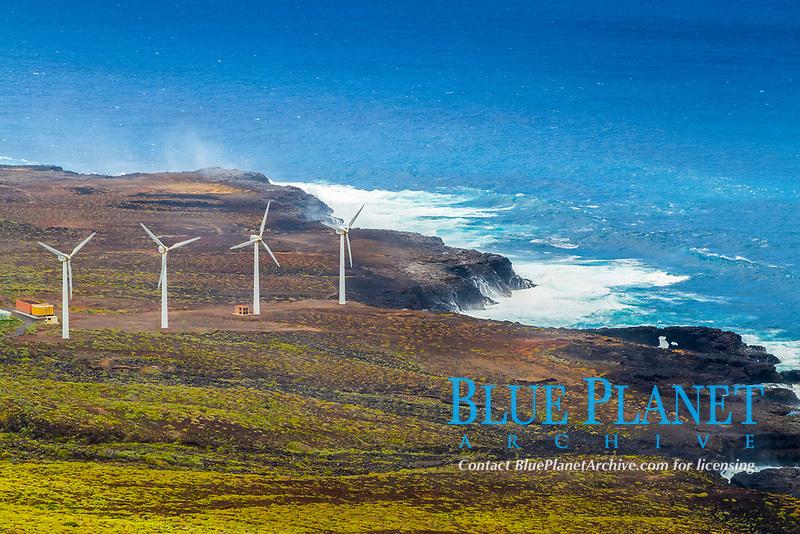 wind turbines, Punta de Teno, Buenavista del Norte, Tenerife, Canary Islands, Spain, Atlantic Ocean
