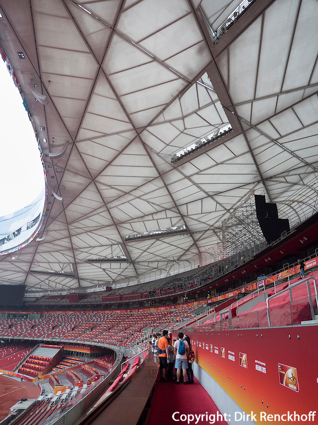 Nationalstadion Vogelnest im Olympia-Center, Peking, China, Asien<br /> National stadium &quot;Birds nest&quot; at Olympic Center,  Beijing, China, Asia