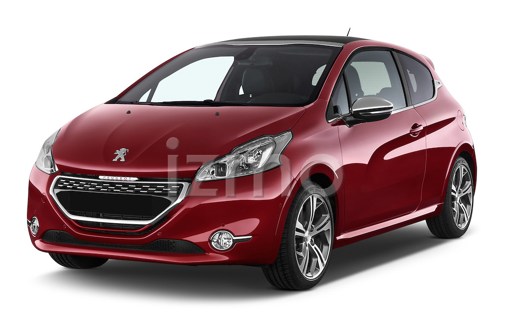 2014 Peugeot 208 GTI 3 Door Hatchback 2WD Angular Front stock photos of front three quarter view