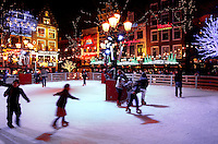IJsbaan op het Leidseplein in Amsterdam
