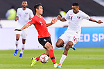 Lee Yong of South Korea (L) fights for the ball with Salem Al Hajri of Qatar (R) during the AFC Asian Cup UAE 2019 Quarter Finals match between Qatar (QAT) and South Korea (KOR) at Zayed Sports City Stadium  on 25 January 2019 in Abu Dhabi, United Arab Emirates. Photo by Marcio Rodrigo Machado / Power Sport Images