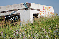 Old Route 66 business, now abandoned in Shamrock Texas.
