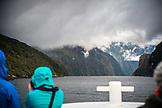NEW ZEALAND, Fiordland National Park, Milfrod Sound from the Tasman Sea, Ben M Thomas