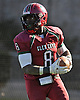 Glen Cove running back No. 8 David Bull rushes for a touchdown during a Nassau County varsity football Conference III semifinal against Bethpage at Hofstra University on Saturday, Nov. 14, 2015. Glen Cove won by a score of 21-0.<br /> <br /> James Escher
