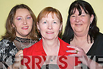 DINNER: Shirley Teahan (Ballymacelligott), Mary Norton (Cullen) and Breda Moynihan (Killarney) enjoying the dinner at the Lee Strand Annual Social in the Brandon Conference Centre, Tralee on Saturday night.   Copyright Kerry's Eye 2008