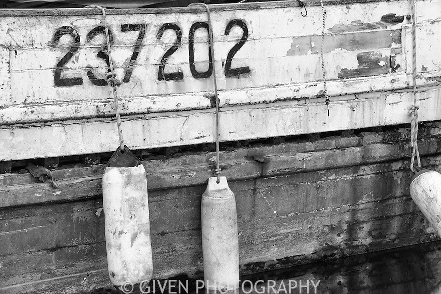 Old Fishing Boat and floats, Seattle, Washington