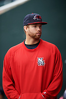 New Hampshire Fisher Cats pitcher T.J. Zeuch (28) during the first game of a doubleheader against the Harrisburg Senators on May 13, 2018 at FNB Field in Harrisburg, Pennsylvania.  New Hampshire defeated Harrisburg 6-1.  (Mike Janes/Four Seam Images)
