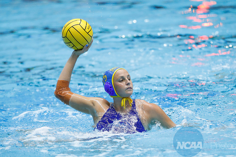 INDIANAPOLIS, IN - MAY 14: Bronte Halligan (25) of UCLA in action during the Division I Women's Water Polo Championship against Stanford University held at the IU Natatorium-IUPUI Campus on May 14, 2017 in Indianapolis, Indiana. (Photo by Joe Robbins/NCAA Photos/NCAA Photos via Getty Images)
