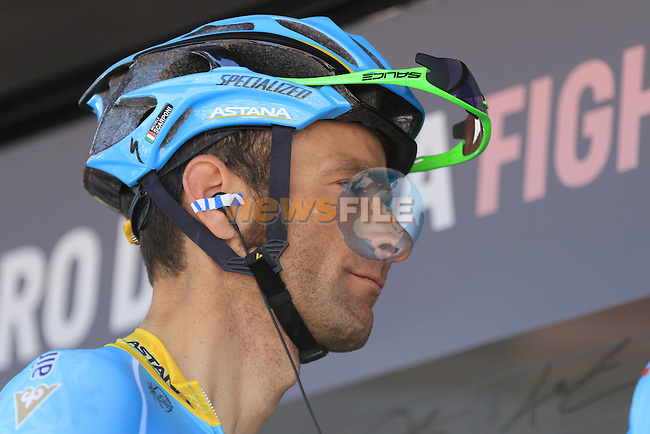 Michele Scarponi (ITA) Astana Pro Team at sign on before the start of Stage 2 of the 2016 Giro d'Italia running 190km from Arnhem to Nijmegen, The Nethrerlands. 7th May 2016.<br /> Picture: Eoin Clarke | Newsfile<br /> <br /> <br /> All photos usage must carry mandatory copyright credit (&copy; Newsfile | Eoin Clarke)