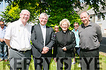 l-r  Fr Sean Hanafin, John Brassil TD, Rev'd Phyllis Jones and Fr Paul Lawlor at the Royal Munster Fusiliers World War I remembrance monument Unveiling in Ballymullen on Saturday