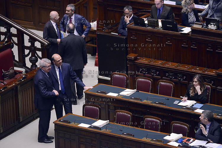 Roma, 10 Marzo 2015<br /> La Camera dei Deputati vota si alle Riforme della Costituzione.<br /> Angelino Alfano e Maria Elena Boschi