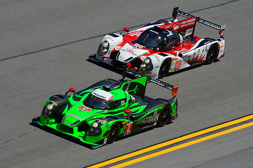 28-31 January, 2016, Daytona Beach, Florida USA<br /> 2, Honda HPD, Ligier JS P2, P, Scott Sharp, Ed Brown, Joannes van Overbeek, Luis Felipe Derani and 60, Honda HPD, Ligier JS P2, P, John Pew, Oswaldo Negri, Jr., AJ Allmendinger, Olivier Pla<br /> &copy;2016, F. Peirce Williams<br /> LAT Photo USA