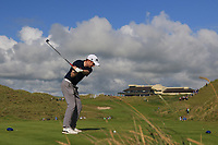 Ronan Mullarney (Galway) on the 18th tee during the Final of the AIG Irish Amateur Close Championship 2019 in Ballybunion Golf Club, Ballybunion, Co. Kerry on Wednesday 7th August 2019.<br /> <br /> Picture:  Thos Caffrey / www.golffile.ie<br /> <br /> All photos usage must carry mandatory copyright credit (© Golffile | Thos Caffrey)