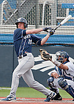 March 30, 2012:   BYU Cougars Brock Whitney swings  against the Nevada Wolf Pack during their NCAA baseball game played at Peccole Park on Friday afternoon in Reno, Nevada.