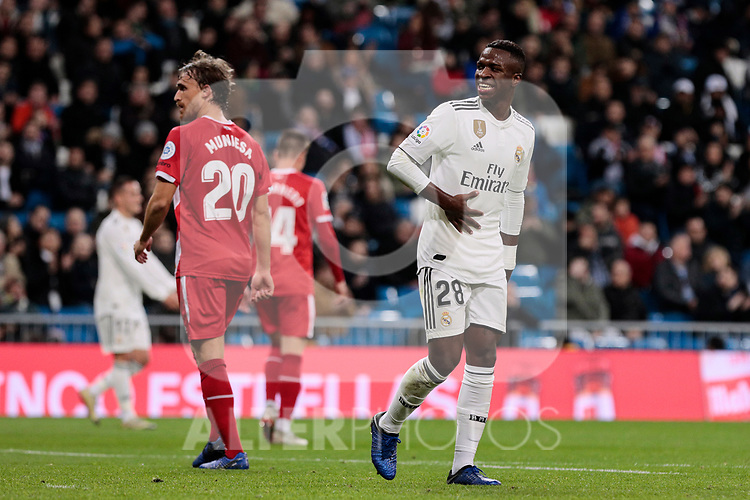 Real Madrid's XXX and Girona FC's XXX during Copa del Rey match between Real Madrid and Girona FC at Santiago Bernabeu Stadium in Madrid, Spain. January 24, 2019. (ALTERPHOTOS/A. Perez Meca)