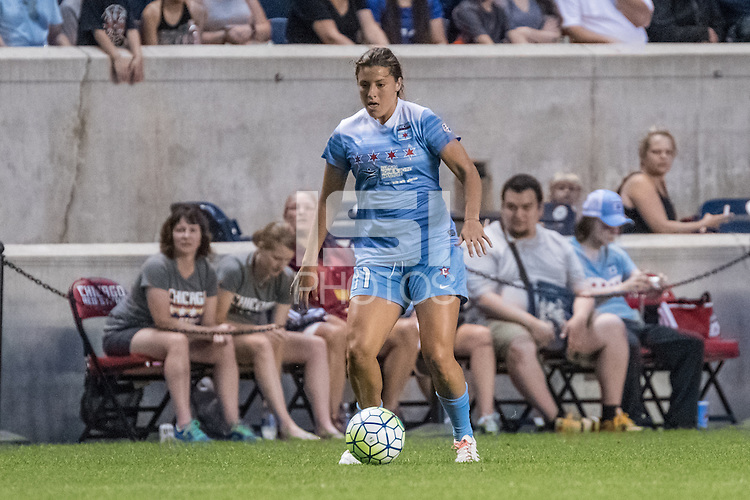 Bridgeview, IL - Saturday July 23, 2016:  Chicago Red Stars forward Sofia Huerta (11) during a regular season National Women's Soccer League (NWSL) match between the Chicago Red Stars and the Houston Dash at Toyota Park.