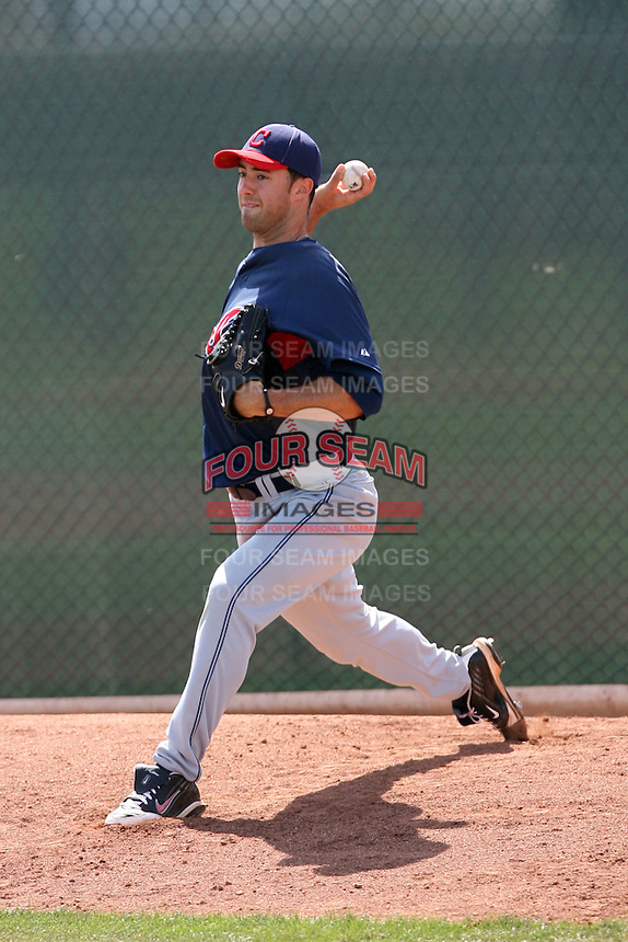 Joseph Mahalic, Cleveland Indians 2010 minor league spring training..Photo by:  Bill Mitchell/Four Seam Images.