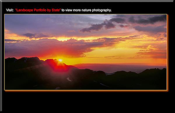 Sunset from Engineer Pass, near Silverton, San Juan Mountains, Colorado.
