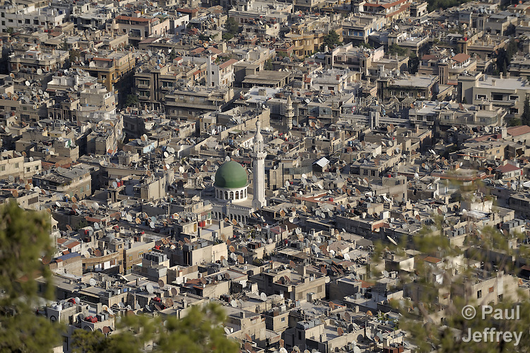 A view of part of the downtown area of Damascus, Syria.