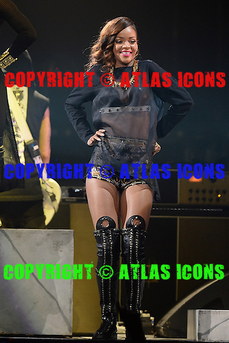 SUNRISE, FL - APRIL 20 : Rihanna performs at The BB&T Center on April 20, 2013 in Sunrise Florida. Credit Larry Marano (C) 2013