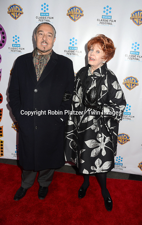 """Marc Rosen and wife Arlene Dahl attend the 40th Anniversary of """"Cabaret"""" on January 31, 2013 at the Ziegfeld Theatre in New York City. The movie has been remastered and will be on Blu-Ray and DVD. The cast includes Michael York, Liza Minnelli, Joel Grey and Marisa Berenson"""