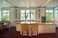 A Large Center Island is the focal point of this kitchen with bar seating