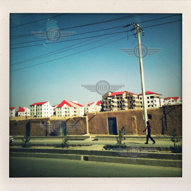 A newly constructed housing development in KAbul.
