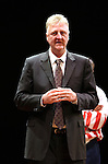 "Larry Bird.during the Broadway Opening Night Performance Curtain Call for ""Magic / Bird"" at the Longacre Theatre in New York City on April 11, 2012"