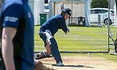 Issued by Cricket Scotland - Scotland player Mark Watt gets in some practice ahead of tomorrow's (sat) Scotland V Sri Lanka 1st One Day International at Grange CC, Edinburgh - picture by Donald MacLeod - 17.05.19 - 07702 319 738 - clanmacleod@btinternet.com - www.donald-macleod.com