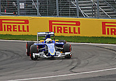 Marcus Ericsson (Sweden) at the wheel of his Sauber at the hairpin turn of the Grand Prix of Canada race on June 7th 2015