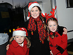Amelia, Grace and Jessica Campbell pictured at the Clogherhead Christmas fair. Photo: Colin Bell/pressphotos.ie