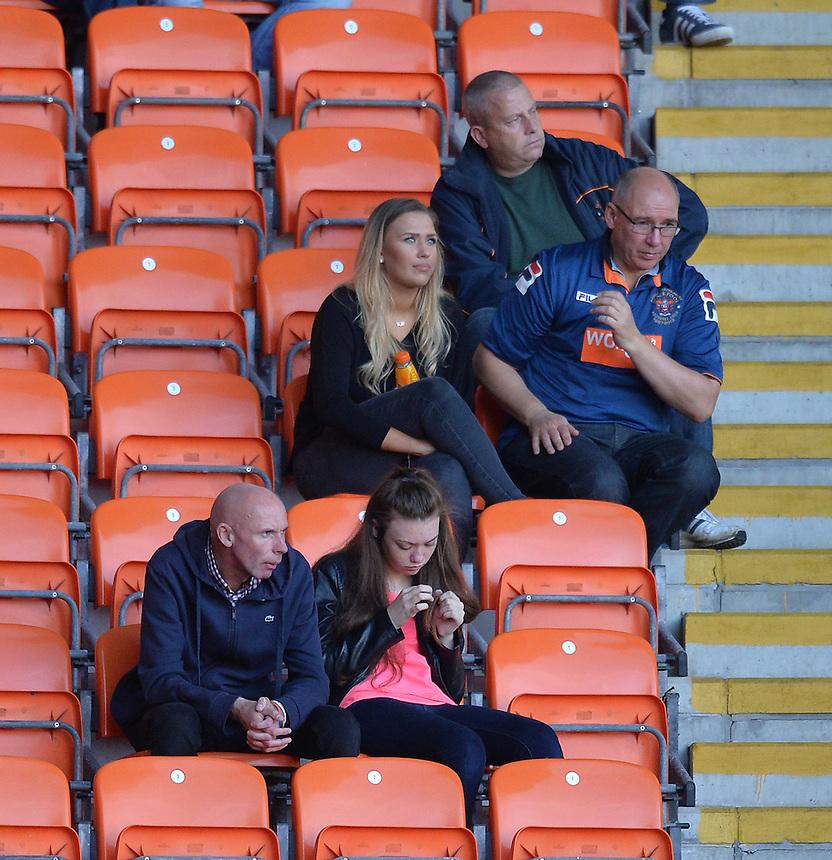 Fans<br /> <br /> Photographer Dave Howarth/CameraSport<br /> <br /> Football - The Football League Sky Bet League One - Blackpool v Barnsley - Saturday 19th September 2015 - Bloomfield Road - Blackpool<br /> <br /> &copy; CameraSport - 43 Linden Ave. Countesthorpe. Leicester. England. LE8 5PG - Tel: +44 (0) 116 277 4147 - admin@camerasport.com - www.camerasport.com