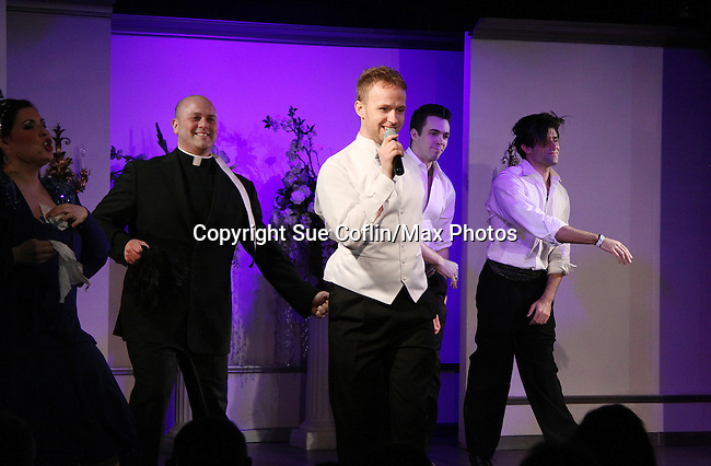 Curtain Call - Marty Thomas and cast star in My Big Gay Italian Wedding on March 18, 2011 (also 3-17- & 3-20) at St. Luke's Theatre, New York City, New York. (Photo by Sue Coflin/Max Photos)