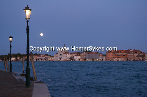 Venice Italy 2009. The churh of   La Giudecca.  across the  Canale della Giudecca.