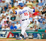 12 March 2008: Los Angeles Dodgers' catcher Russell Martin in action during a Spring Training game against the Washington Nationals at Holman Stadium, in Vero Beach, Florida. The Nationals defeated the Dodgers 10-4 at the historic Dodgertown ballpark. 2008 marks the final season of Spring Training at Dodgertown for the Dodgers, as the team will move to new training facilities in Arizona starting in 2009 after 60 years in Florida...Mandatory Photo Credit: Ed Wolfstein Photo