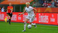 Megan Rapinoe of team USA during the FIFA Women's World Cup at the FIFA Stadium in Moenchengladbach, Germany on July 13th, 2011.