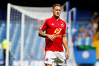 Billy Sharp of Sheffield United warms up during the Premier League match between Chelsea and Sheff United at Stamford Bridge, London, England on 31 August 2019. Photo by Carlton Myrie / PRiME Media Images.