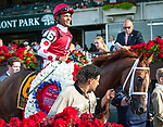 July 6, 2019: Henley's Joy, ridden by Jose Lezcano, wins the 2019 running of the G1 Belmont Derby Invitational. at Belmont Park in Elmont, NY. Sophie Shore/ESW/CSM