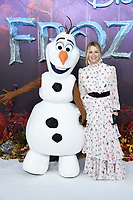 "Edith Bowman and Olaf<br /> arriving for the ""Frozen 2"" premiere at the BFI South Bank, London.<br /> <br /> ©Ash Knotek  D3537 17/11/2019"