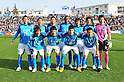 Yokohama FC team group line-up, MARCH 6, 2011 - Football : Yokohama FC team group shot (Top row - L to R) Yoshihito Fujita, Hiroaki Nanba, Masato Fujita, Fabinho, Hiroshi Nakano, Kazuya Iio, Kentaro Seki, (Bottom row - L to R) Tomohiko Miyazaki, Kensuke Sato, Kaio and Masayuki Yanagisawa before the 2011 J.League Division 2 match between Yokohama FC 1-2 Kataller Toyama at NHK Spring Mitsuzawa Football Stadium in Kanagawa, Japan. (Photo by AFLO)