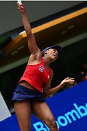 Washington, DC - July 25, 2018:  Venus Williams of the Washington Kastles serves during her Women's Singles match against Naomi Broady of the San Diego Aviators July 25, 2018.  (Photo by Don Baxter/Media Images International)