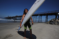 May 13,2013.Oceanside, CA.|Surfer Guy Takayama at the Oceanside Pier.| Photos Jamie Scott Lytle